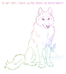 Sitting Wolf Sketch by WildSpiritWolf