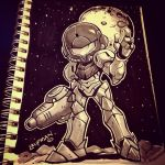 Inktober Day 24: Metroid! by DerekLaufman