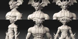 zbrush devilman by asgard-knight