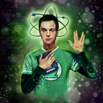 The great and terrifying Dr. Sheldon Cooper by Bidger90