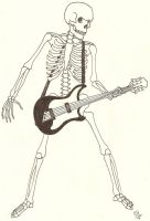 Skeleton with Guitar by angelfish1021