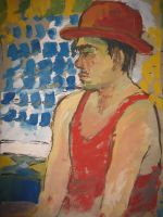 the man with red hat by rainpause