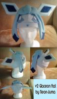 v2 Glaceon hat by Neon-Juma