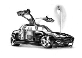 Mercedes SLS AMG - Black Series by FlashofWildfire