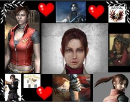 Claire Redfield collage by cellamare