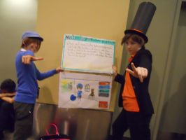 Otakon 2011: Layton and Luke by LusheetaLaputa