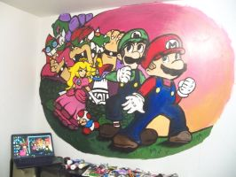 Mario And Luigi SS Wall Art by InvaderCasie