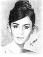 Lily Collins by shaynaJreddick
