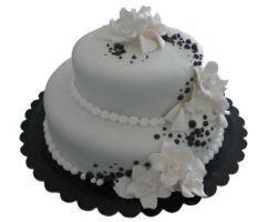 simple wedding cake by akr1