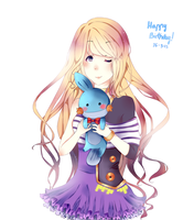[HBD] Leire and Mudkip by Aoi-chan01