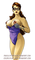 Bombshell Frelncer Pin-up by Abt-Nihil