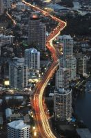 Busy City of Gold Coast by Muadh86