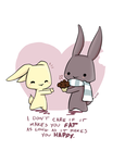 Bunny Valentine by imaginated-friend