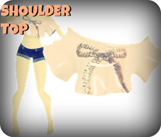 MMD RxNxD Shoulder Top by RinXNeruXD