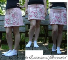 T-shirt Skirt Recon by Eliea