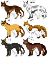Cat adoptables 2 (closed) by SpiritAdopts