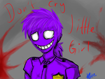 Don't Cry Little Girl...- Vincent/ Purple Guy by Yoshic