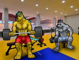 Lifting weights by wulfzilla