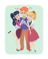 ronnie, archie, betty by tinysnail