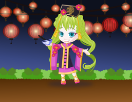 Chinese New Year Girl by alyson34567
