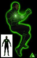 Green Lantern Redesign:  John Stewart by toekneearrows