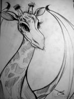 Dragon Giraffe Sketch by SanneCazemier