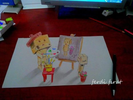 3D Drawing Art - Danbo by vexilloid