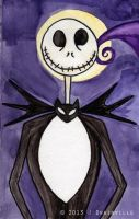 Jack Skellington Watercolor by jdrainville