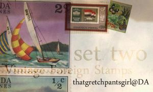 Vintage Foreign Stamps 2 by thatgretchpantsgirl