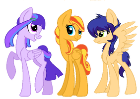 Equestria Girls Cannon Foals by BrizzAdoptsXX
