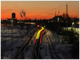 Railroad Sunset II by Fox82