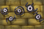 Unown Glyphs by Kittyy-Cattyy