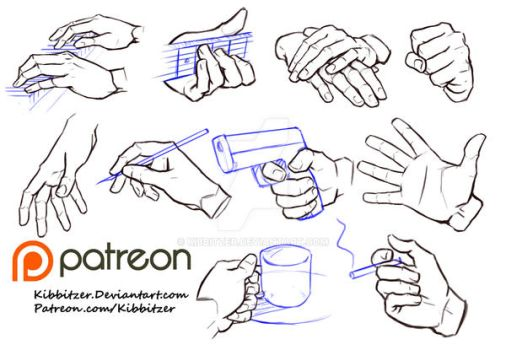 Hands reference sheet 6 by Kibbitzer