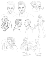 sterek sketch dump by dinoCUNTasaurus