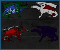 Free Dragon Adoptables - CLOSED by ShattenWolf