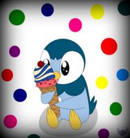Piplup's Ice Cream by Stitchlovergirl96