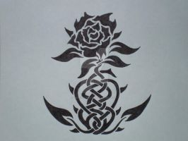 Knotwork Rose by Medicine-Widow