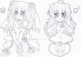 Marisa Kirisame (Bride N Chibi Version) by lordsyafiqnaz