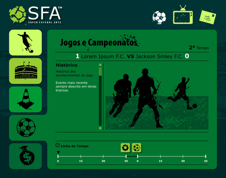 Super Futebol Arte Menu Design by calfasilva