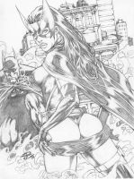 RC_Huntress_Batman by renatocamilo