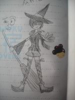 Yuffie the Witch Rough Sketch by snowcloud8