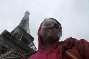 The Eiffel Tower and me by YunakiDraw