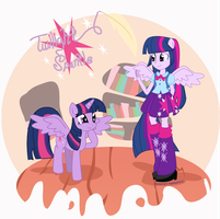 Twilight Sparkle Pony and EG by Arteses-Canvas