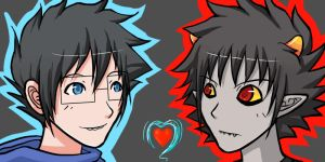 HS - JohnxKarkat - animated icons by ChibiEdo