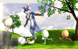 MMD- Newcomer Bunnymund Rise of the Guardians. -DL by MMDFakewings18