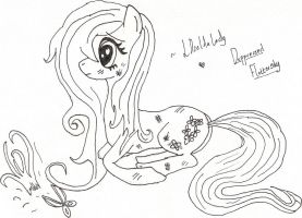 Depressed And Abused Fluttershy(My Little Pony:FIM by BlackRoseLegend