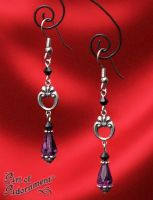 Opium Baroque Drop Earrings by ArtOfAdornment