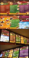 Restaurant Menu Board by eLdIn94