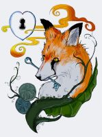 fox tattoo design by arrowchild