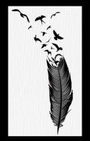 Birds e Feather tatto design by GabrielReid